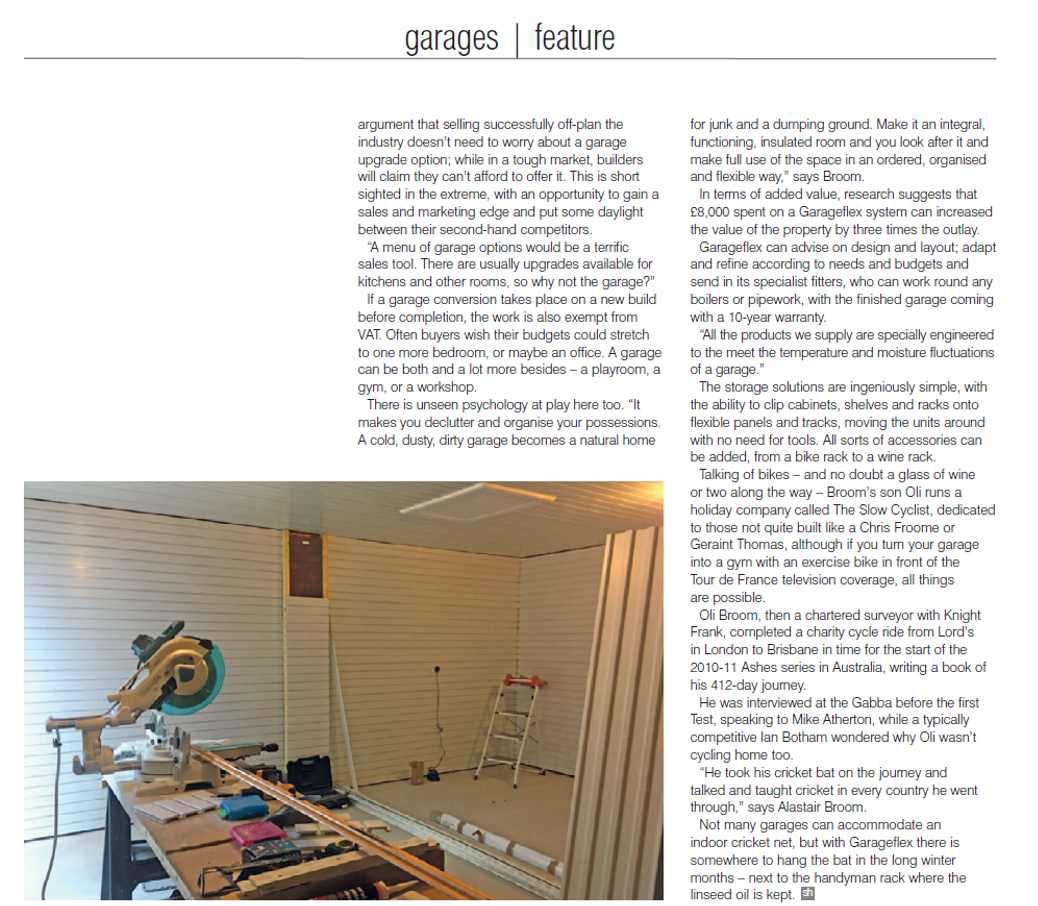 Garageflex feature in Show House magazine September 2018