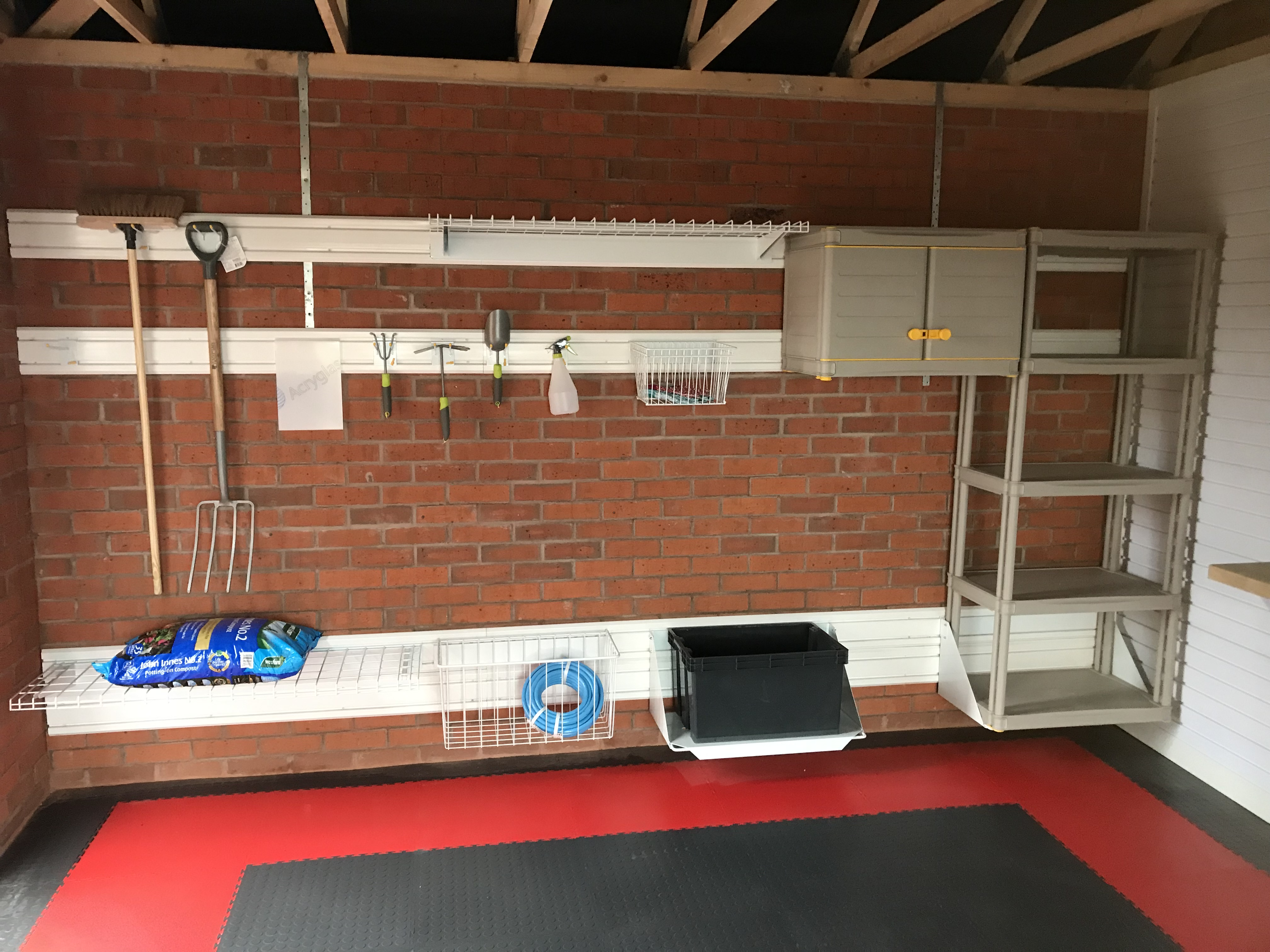 Sensational storage solutions installed in Cameron Homes show garage