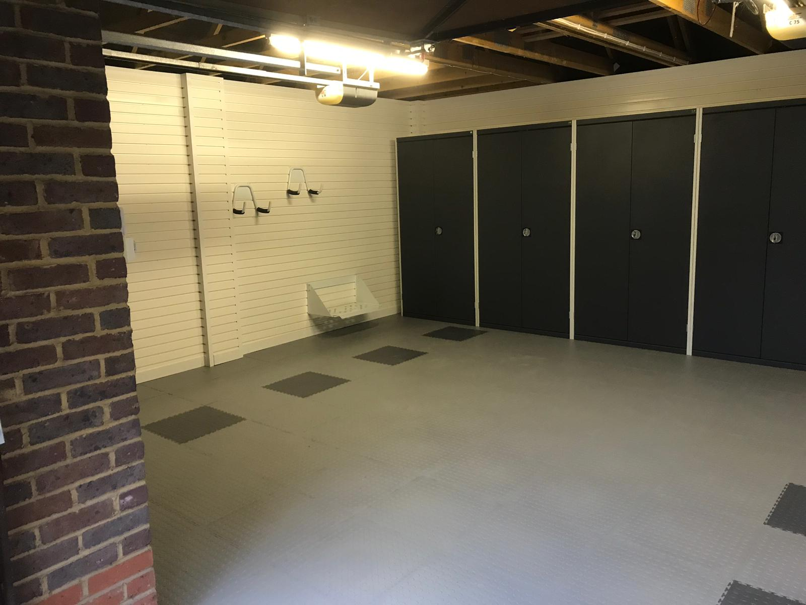 Metal tall cabinets in garage