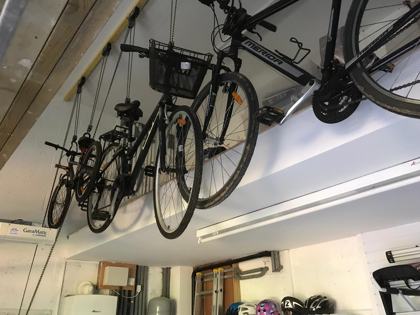 Ceiling storage for your bikes