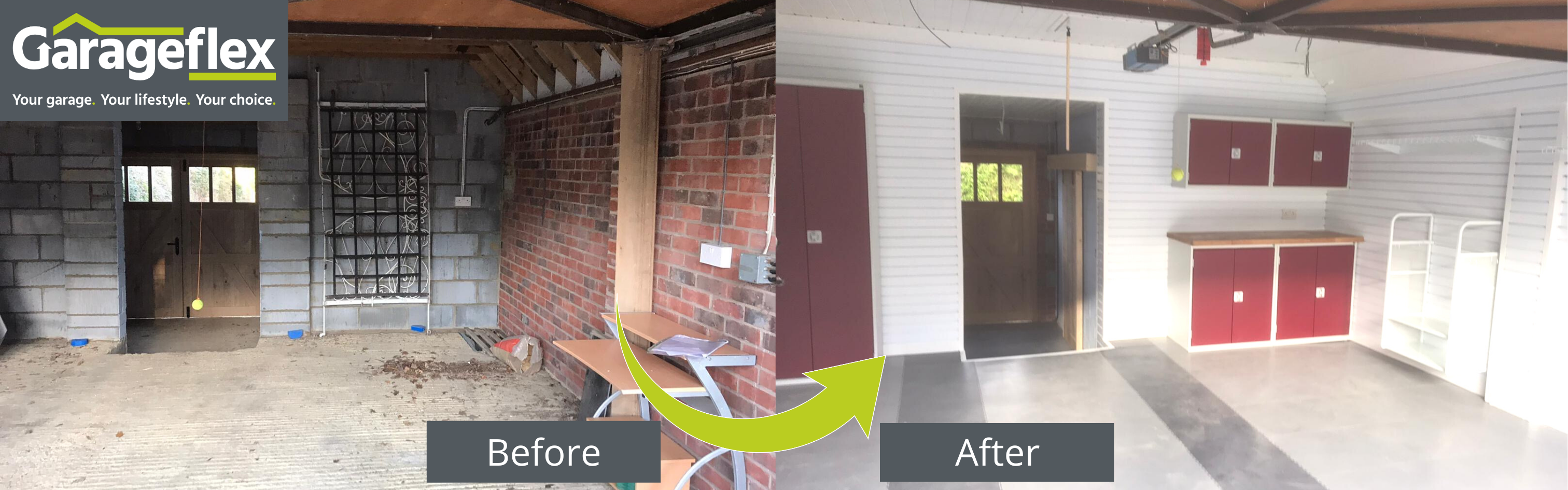 Dust free garage before and after