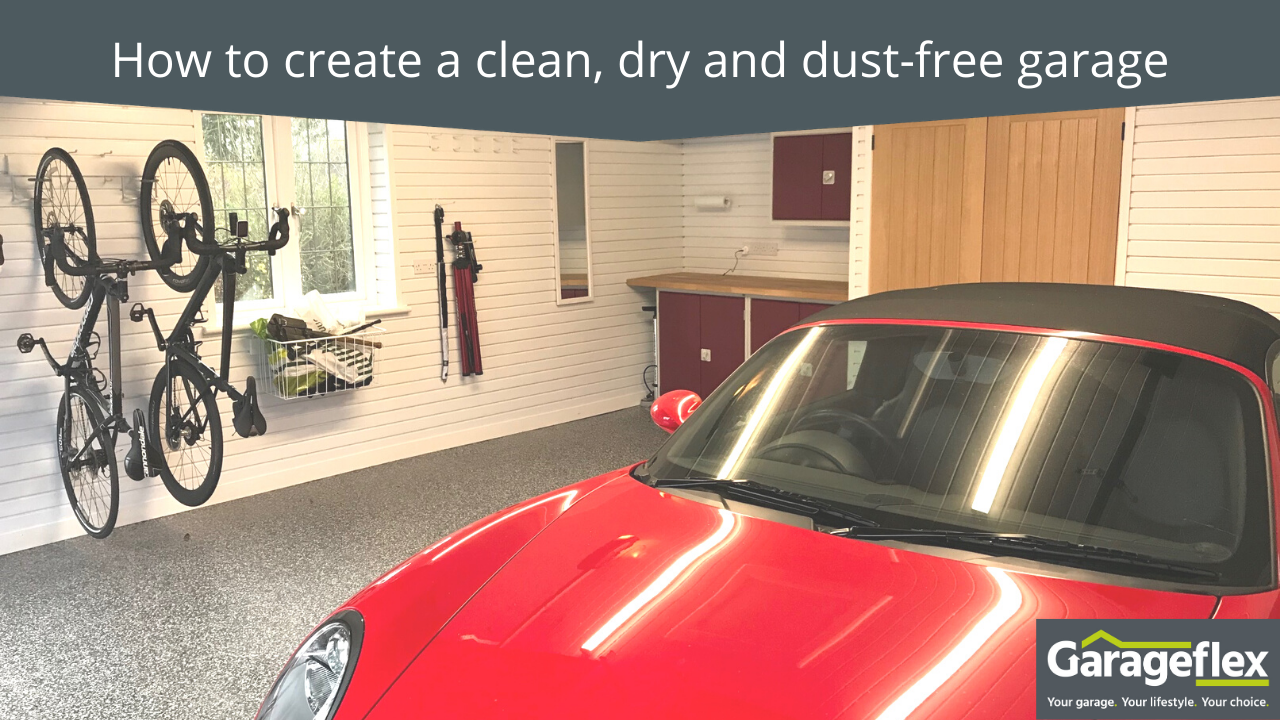 Clean, dry dust free garage