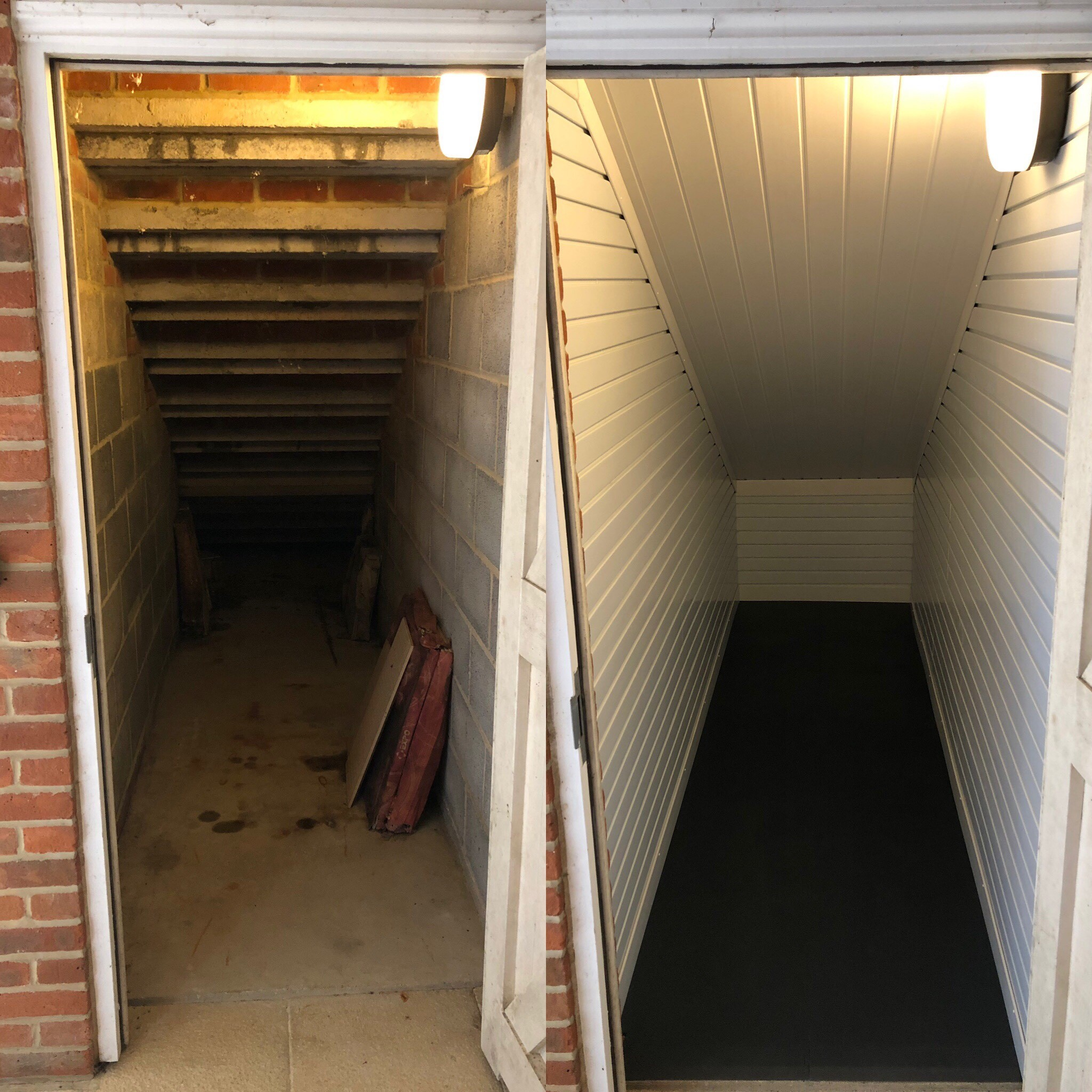 Spider Room Before and After