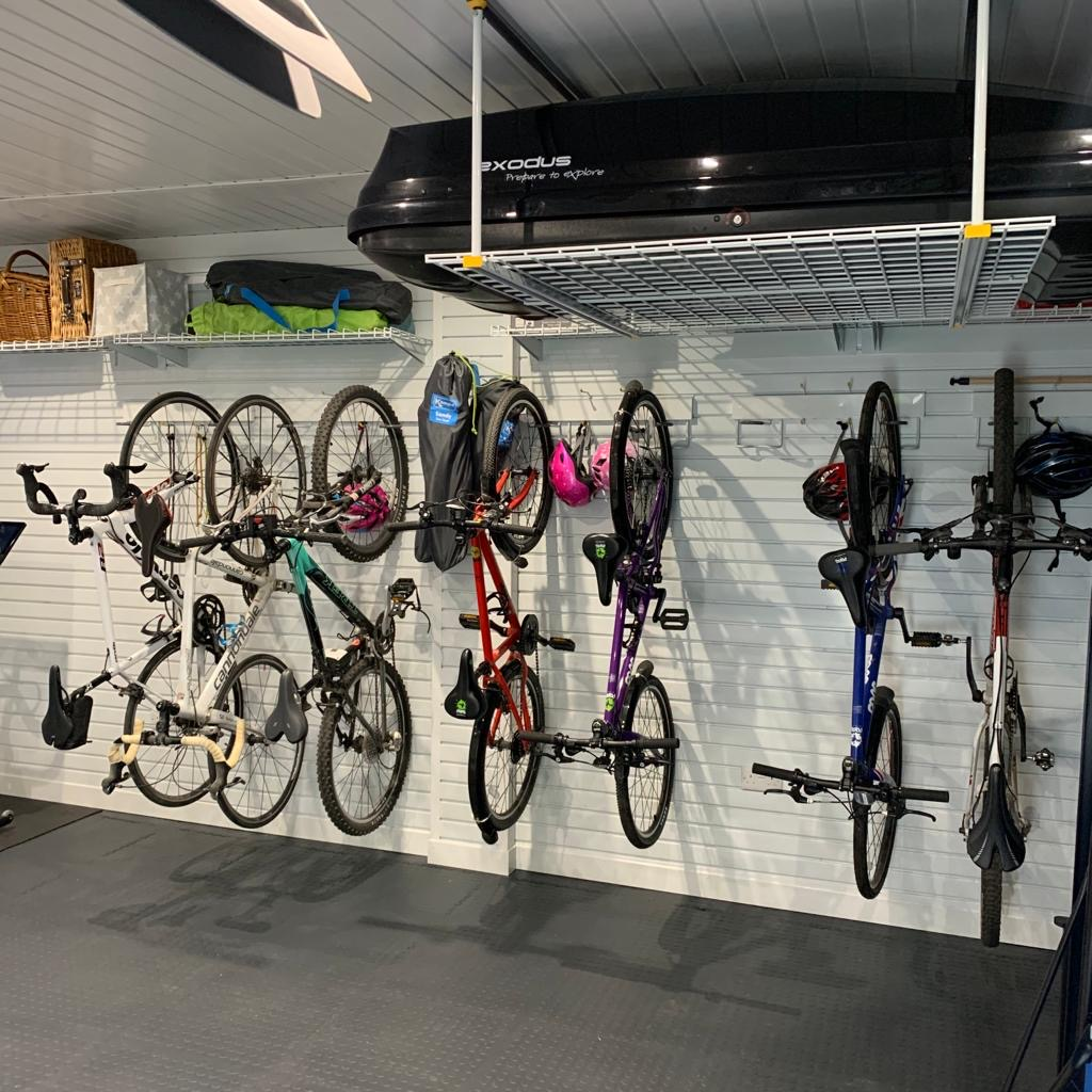 A great wall of bikes