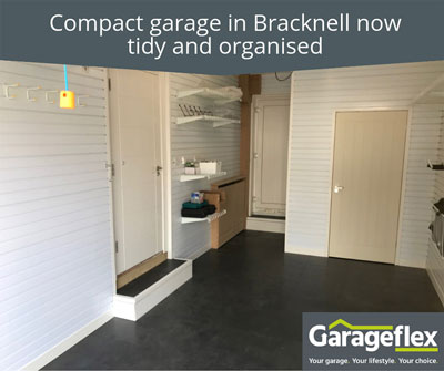 Compact garage in Bracknell now tidy and organised