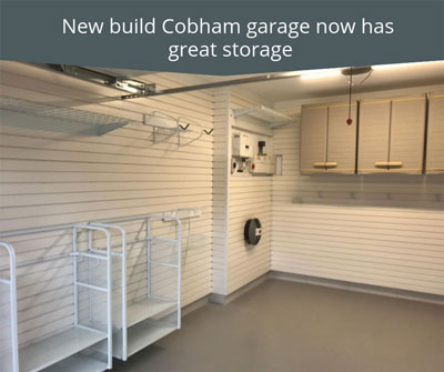 New Build Cobham Garage Now Has Great Storage
