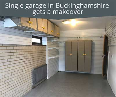 Single garage in Buckinghamshire gets a Garageflex Makeover