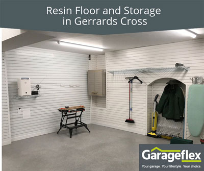 Resin Floor and Storage in Gerrards Cross