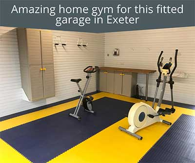 Amazing home gym for this fitted garage in Exeter