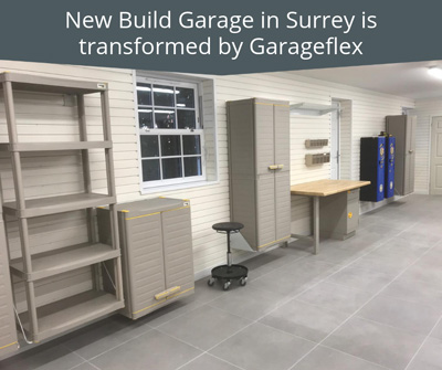 New Build Garage in Surrey is transformed by Garageflex