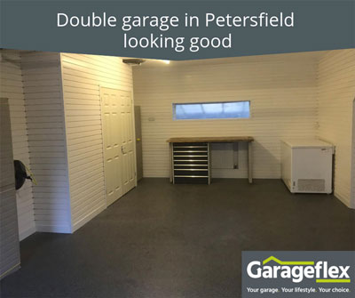 Double Garage in Petersfield Looking Good