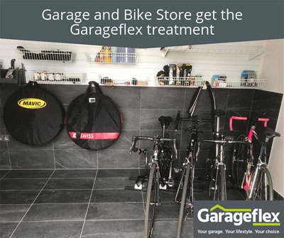 Garage and Bike Store get the Garageflex treatment