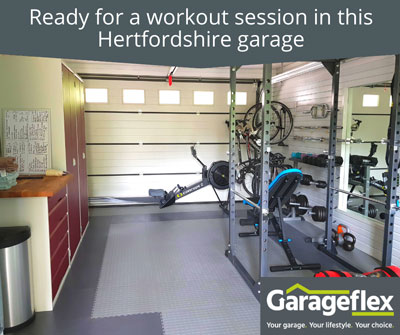 Ready for a workout session in this Hertfordshire garage