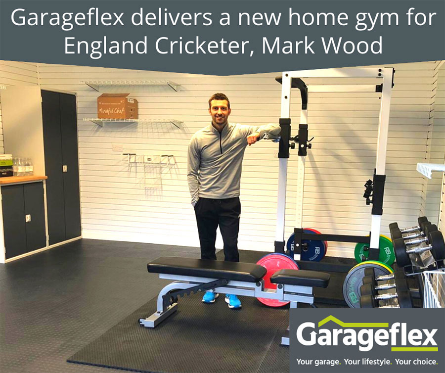 Garageflex delivers new home gym for England Cricketer, Mark Wood