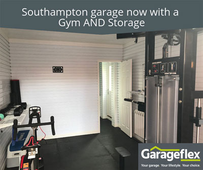 Southampton garage now with a Gym AND Storage