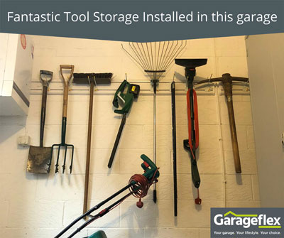 Fantastic Tool Storage Installed in this Garage