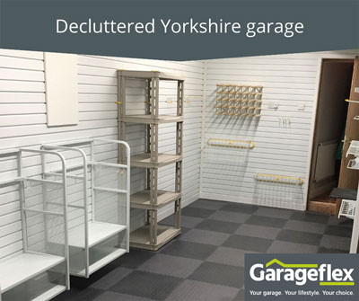 Decluttered Yorkshire garage