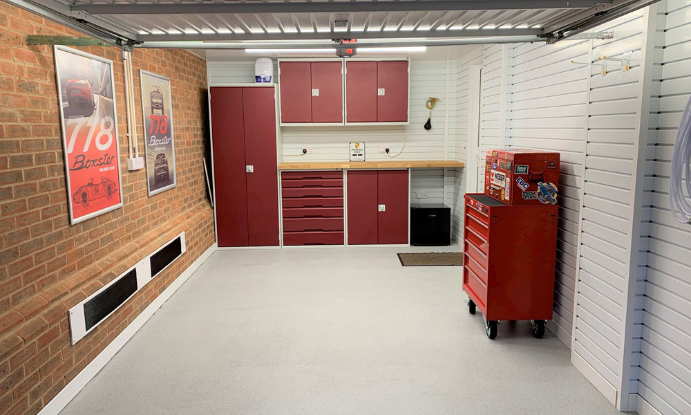 Garage Storage Solutions Solutions Makeover Tile Resin Flooring
