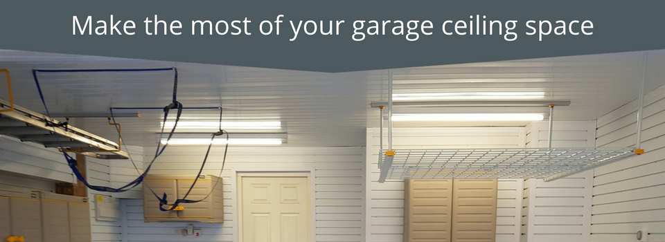 Make best use of your garage ceiling with our storage